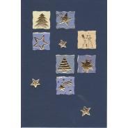 Jeu de 5 cartes de Noël assorties