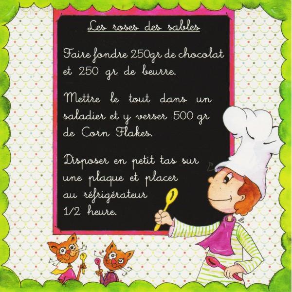 Top Carte postale recette des Roses des Sables à réaliser par les enfants YH09