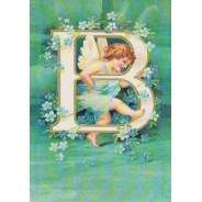 Lettrine avec votre initiale sur carte postale