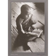 """Moine de Birmanie"" de Sabine Weiss"