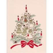 Mini carte Poinsetia de Noël