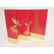 Les Anges de Noël, Carte de Noël en 3 volets à ouvrir