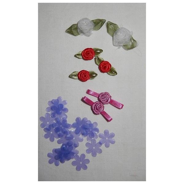 roses miniatures satin et organza pour carterie cr ative et d corations. Black Bedroom Furniture Sets. Home Design Ideas