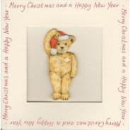 Carte de Noël  avec Magnet Ours en peluche