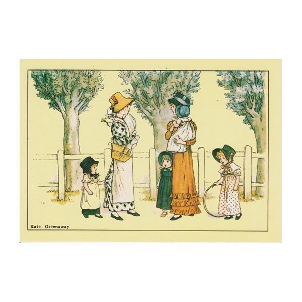 cartes postales avec dessins vintage de kate greenaway illustratrice de livres d 39 enfants. Black Bedroom Furniture Sets. Home Design Ideas
