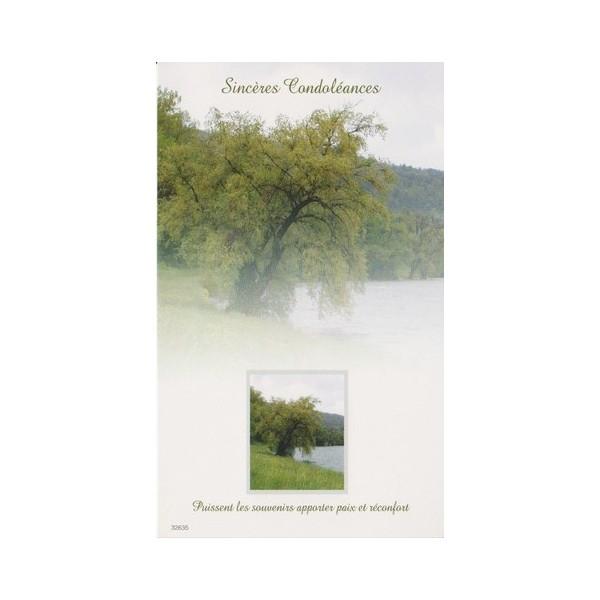 Cartes simples pour présenter ses condoléances - Carterie Poitiers