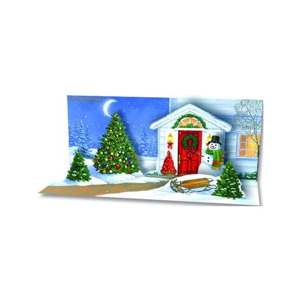 D cor de no l pour la porte de la maison ouvrir en - Maison decoree pour noel ...