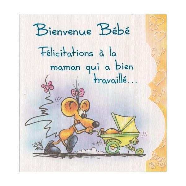 Super Carte Félicitations de naissance : Bienvenue Bébé - Carterie Poitiers FF35