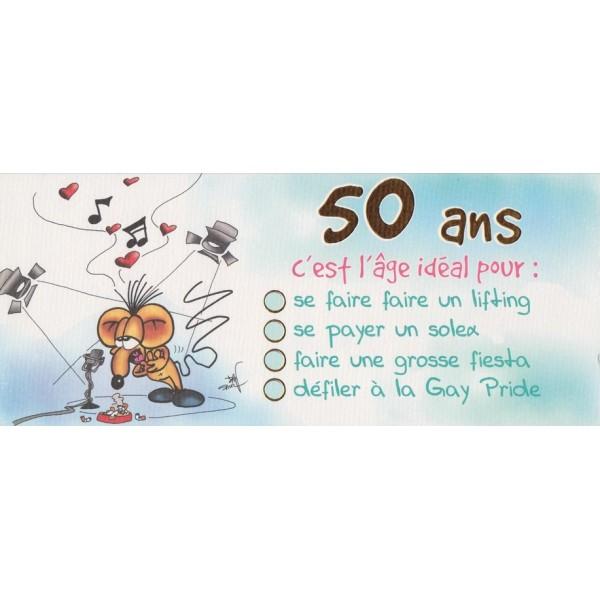 Souvent Carte Humoristique 50 Ans Yr48 Montrealeast