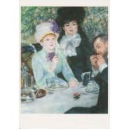 """""""La fin du déjeuner"""" d'Auguste Renoir tableau reproduit en carte postale."""