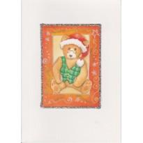 Jeu de 2 cartes de Noël avec Ourson et Porte anglaise