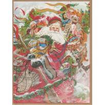 L'arrivée triomphante de Saint Nicolas, carte de Noël