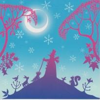Cartes de Noël , jeu de 5 cartes variées -