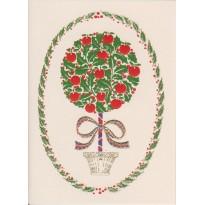 """Arbre """"boule de houx et pommes d'amour"""": carte de voeux"""