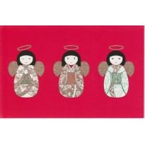 Carte double 3 Anges style émoticônes !