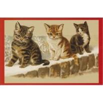 Les petits chats à Noël ! cartes de Noël vintage