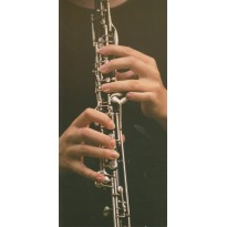 Clarinettiste faisant ses gammes en carte d'art photo.