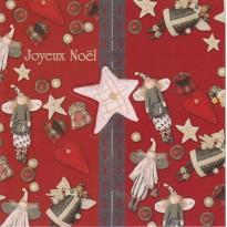Carte Joyeux Noël s'ouvrant par un bouton- étoile
