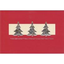 Sapins de Noël :  assortiment de cartes de Noël au thème de sapins