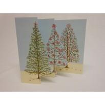 Sapin de Noël, carte en 3 volets à ouvrir