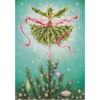 Houx de Noël, carte de Noël féérique