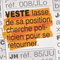 "Carte expression humoristique : ""Retourner sa veste"" !"