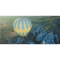 Vol de Montgolfière : carte postale paysage panoramique