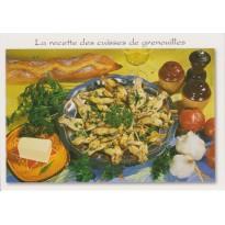 Cuisses de grenouilles, carte postale recette