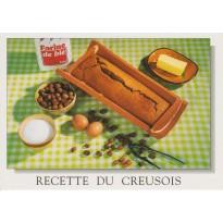Gâteau Creusois aux noisettes, carte postale recette