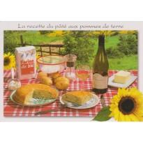 Pâté de pommes de terre, carte postale recette