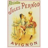 Absinthe Jules Pernod, publicité reproduite sur carte postale