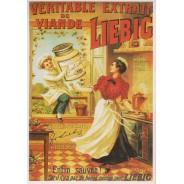 Carte publicitaire Liebig reproduisant ancienne affiche