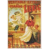Publicité Liebig, carte postale reproduction  d'affiche ancienne