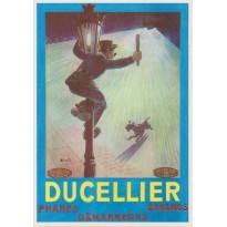 Ducellier, phares et dynamos, carte postale publicitaire