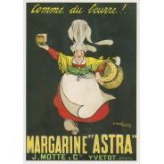 Carte ancienne publicité Margarine Astra