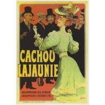 Cachou Lajaunie, carte postale publicitaire