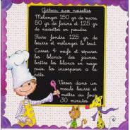 Carte recette pour enfants :  gâteau aux noisettes