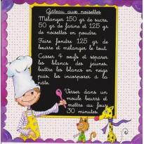 Gâteau aux noisettes, carte postale recette enfants