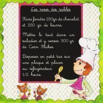 Roses des Sables, carte postale recette pour enfants
