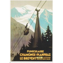 Carte reproduction affiche Funiculaire de Chamonix