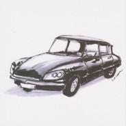 Carte anniversaire : automobiles DS