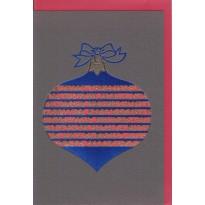 Carte Boule de Noël ajourée et Joyeux Noël en toutes les langues