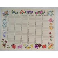 Calendriers perpétuels 39 fleurs différentes