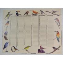 Calendrier perpétuel motifs 30 oiseaux