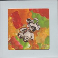 Ourson bonbon gélifié, carte postale photo