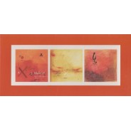 Carte d'art Trilogie en rouge