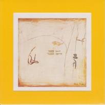 Oeuvre de Florence Roqueplo reproduite sur carte postale cadre.