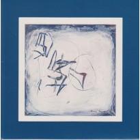 Oeuvre picturale de Florence Roqueplo reproduite sur carte postale cadre.