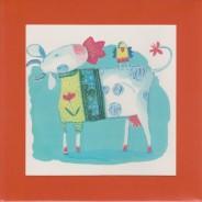 Carte pour enfants : La Vache et l'oiseau
