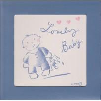 """""""Lovely Baby"""" carte cadre avec chevalet."""
